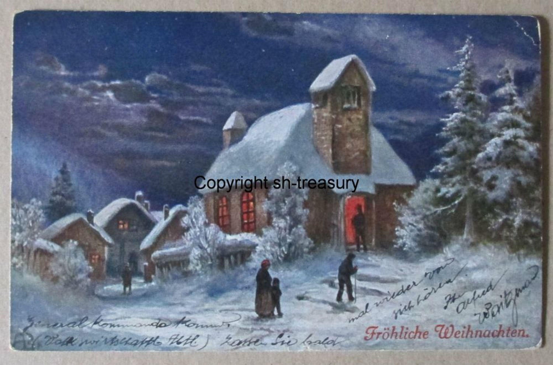 alte ak farbig fr hliche weihnachten gelaufen leipzig 1915 kaufen bei. Black Bedroom Furniture Sets. Home Design Ideas