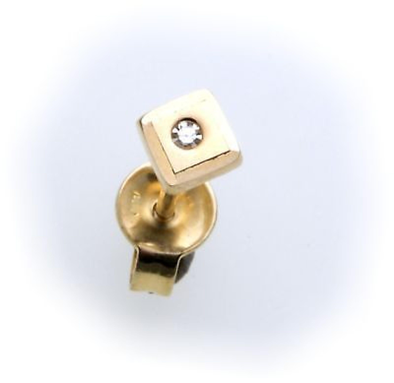 herren ohrringe stecker echt gold 585 brillant 0 01ct. Black Bedroom Furniture Sets. Home Design Ideas