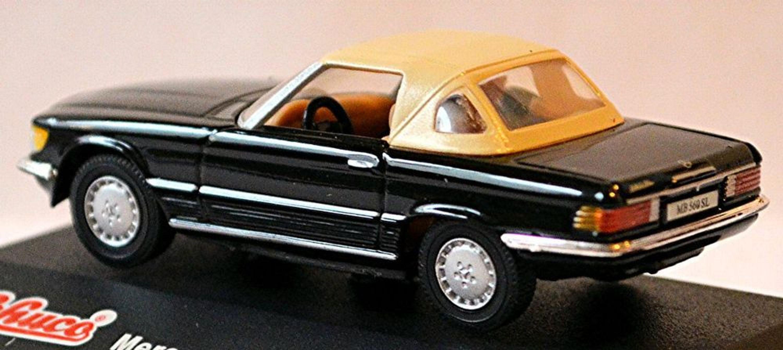 mercedes benz 560 sl softtop r107 1985 89 1 72 schwarz black kaufen bei. Black Bedroom Furniture Sets. Home Design Ideas