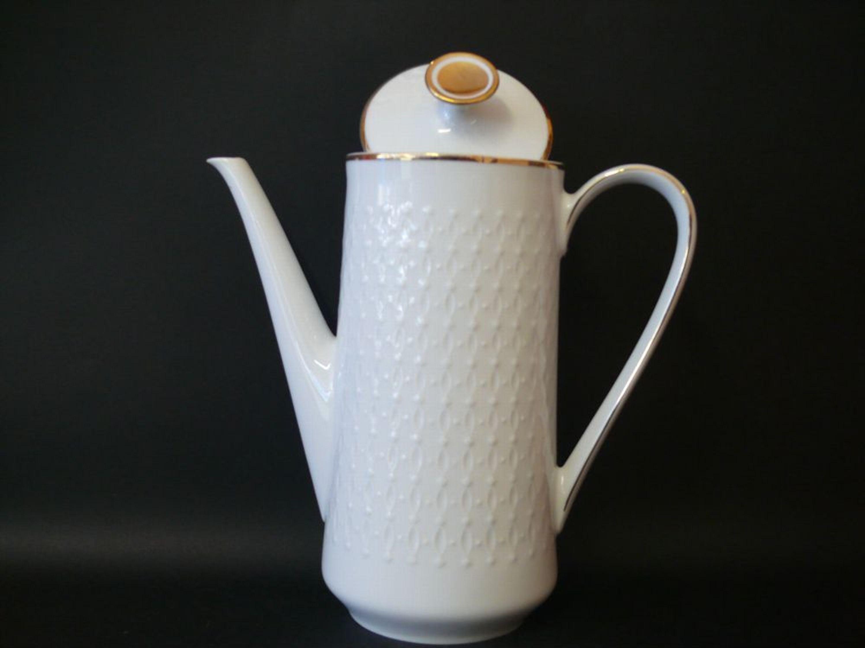 kaffeekanne teekanne mitterteich bavaria porzellan mit f hlbare muster kaufen bei. Black Bedroom Furniture Sets. Home Design Ideas
