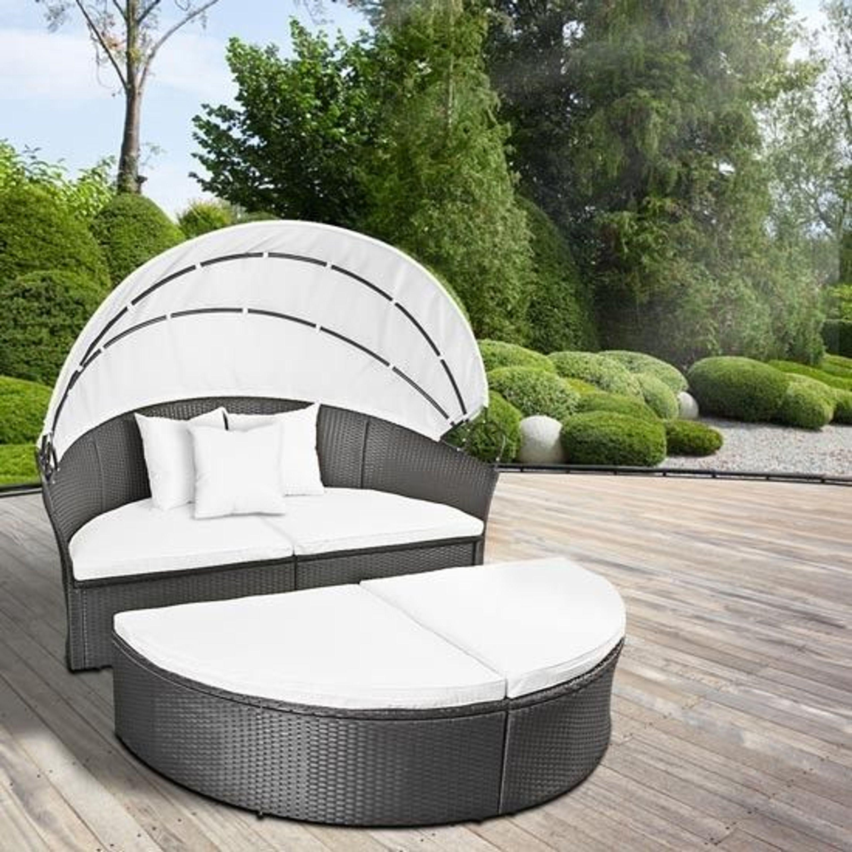 polyrattan sonneninsel xxl in grau rtsl04 kaufen bei. Black Bedroom Furniture Sets. Home Design Ideas