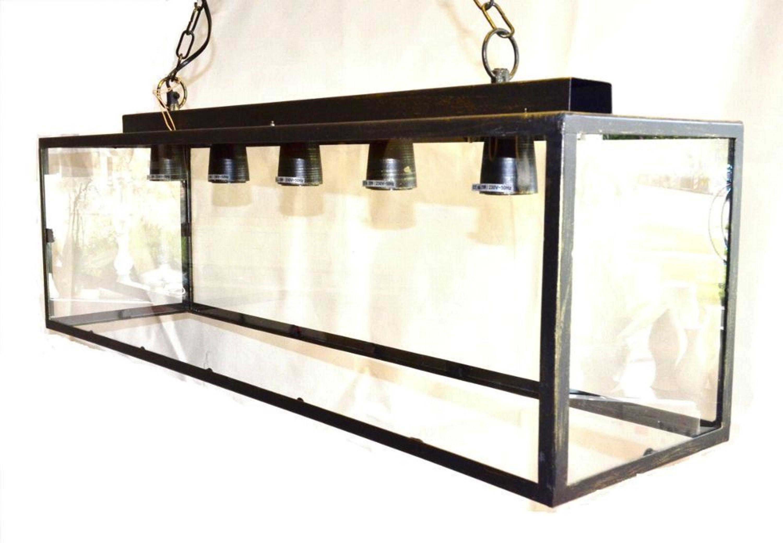 impressionen deckenleuchte glas metall antiklook leuchte. Black Bedroom Furniture Sets. Home Design Ideas