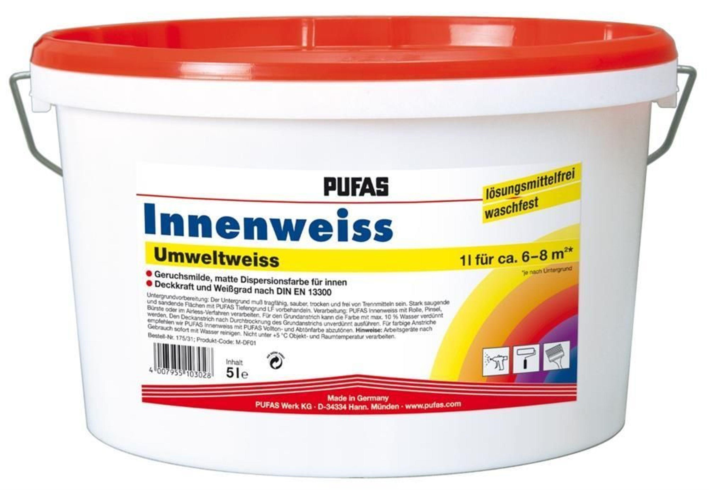 wandfarbe innenfarbe deckenfarbe waschfest umweltweiss pufas kaufen bei. Black Bedroom Furniture Sets. Home Design Ideas