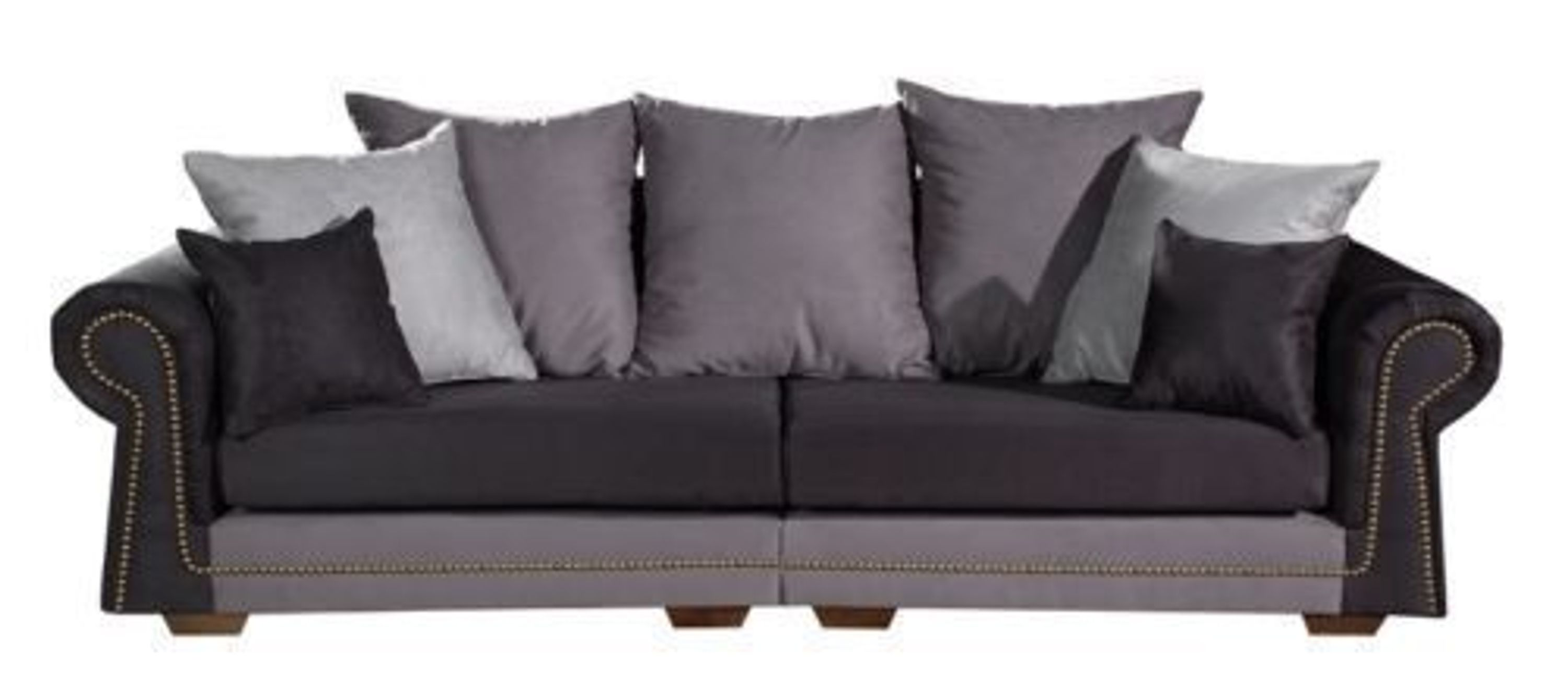 mega big k ln 3er sofa im kolonialstyle in alcantara kaufen bei. Black Bedroom Furniture Sets. Home Design Ideas