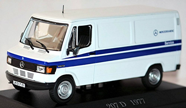 mercedes benz t1 207 d kastenwagen 1977 95 wei white 1 43. Black Bedroom Furniture Sets. Home Design Ideas