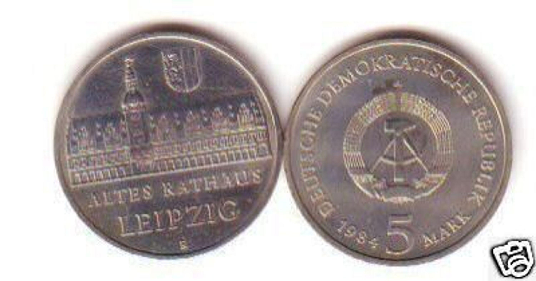 Ddr Gedenk Münze 5 Mark Altes Rathaus Leipzig 1984 Gebraucht Kaufen