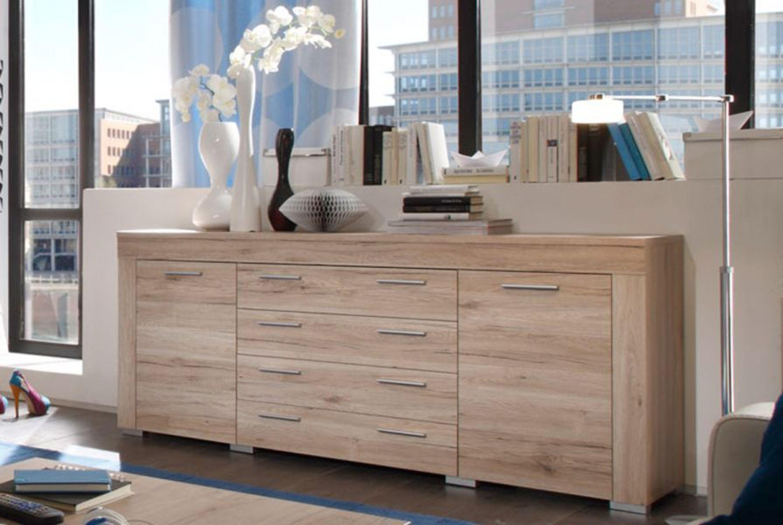 sideboard boom kommode sonoma eiche hell wohnzimmer schrank esszimmer anrichte kaufen bei. Black Bedroom Furniture Sets. Home Design Ideas