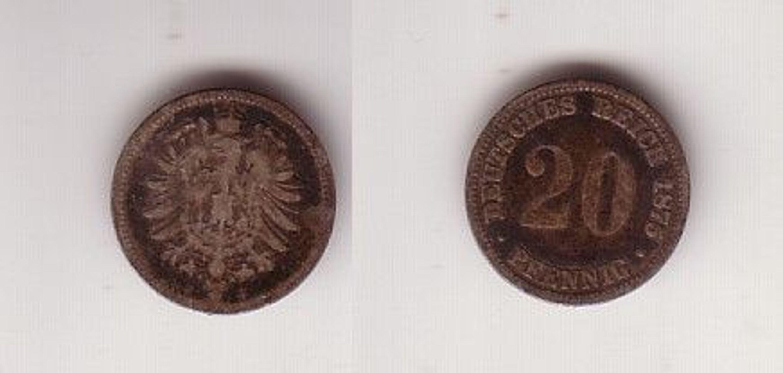 20 Pfennig Silber Münze Deutsches Reich 1875 J Jäger 5 112944
