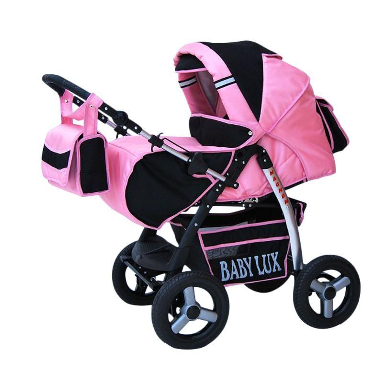 lux4kids magnum kinderwagen 14 rosa schwarz kaufen bei. Black Bedroom Furniture Sets. Home Design Ideas