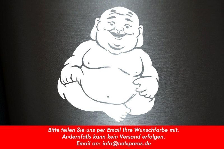 1 X 2 Plott Aufkleber Buddha Asian Budda Sticker Tuning Gebet Autoaufkleber Domo