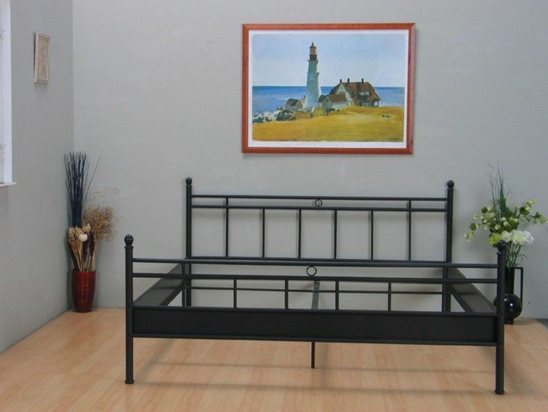 metallbett bett 140x200 schwarz doppelbett ehebett neu. Black Bedroom Furniture Sets. Home Design Ideas