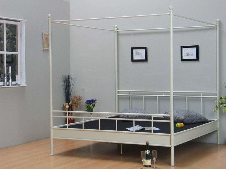 metallbett himmelbett bett 140x200 doppelbett ehebett vanilla neu kaufen bei. Black Bedroom Furniture Sets. Home Design Ideas