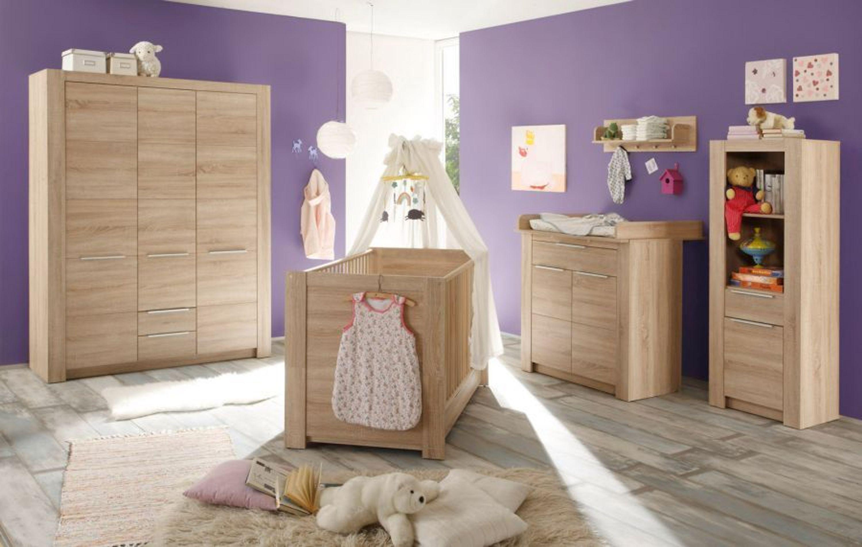 Babyzimmer Carlotta Komplett Set 5 Tlg Sonoma Eiche Sagerau Mit