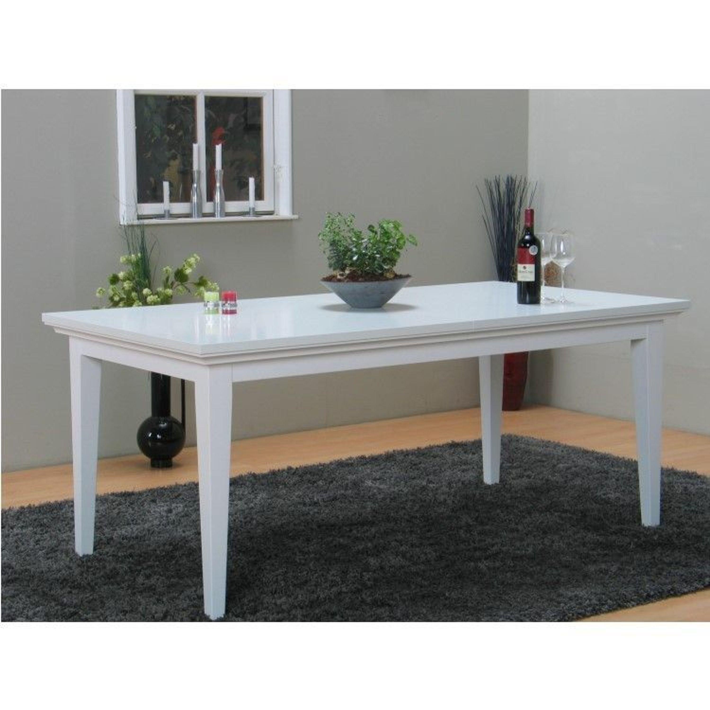 PARIS Esstisch Esszimmertisch Tisch Erweiterbar Landhaus weiß kaufen bei Hood.de