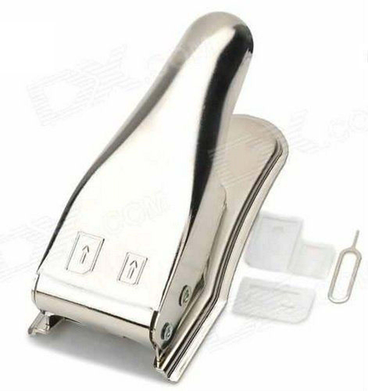 dual sim cutter karten schneider in silber stanzer micro nano adapter kaufen bei. Black Bedroom Furniture Sets. Home Design Ideas
