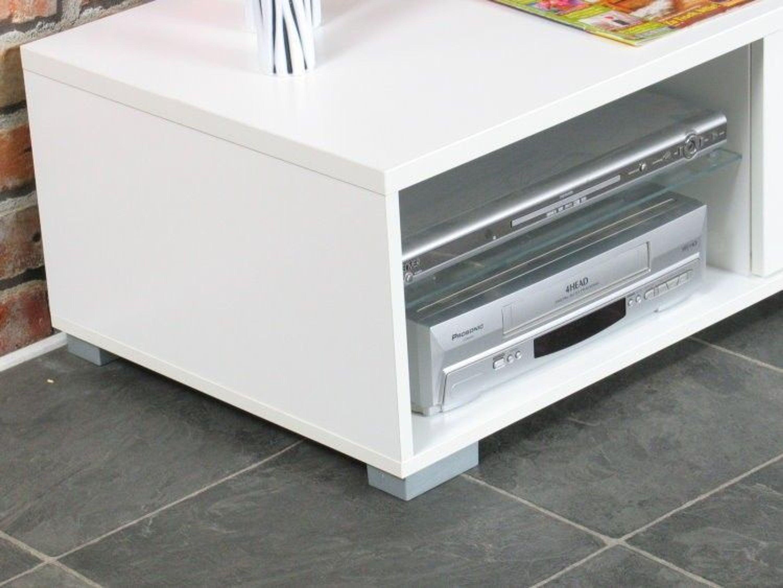 tv board homeline tv m bel hifi tisch fernsehschrank fernsehtisch lowboard wei kaufen bei. Black Bedroom Furniture Sets. Home Design Ideas