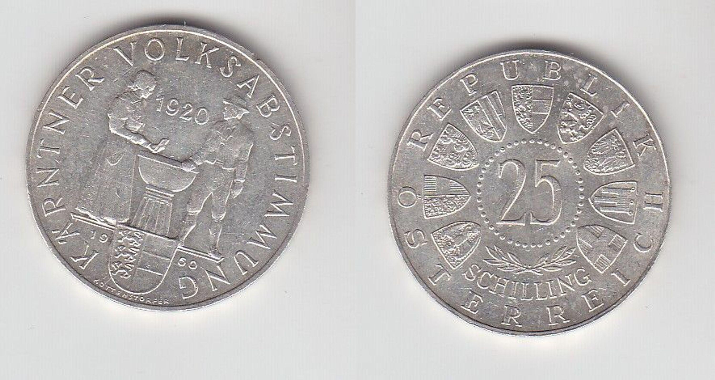 25 Schilling Silber Münze österreich Kärntner Volksabstimmung 1920