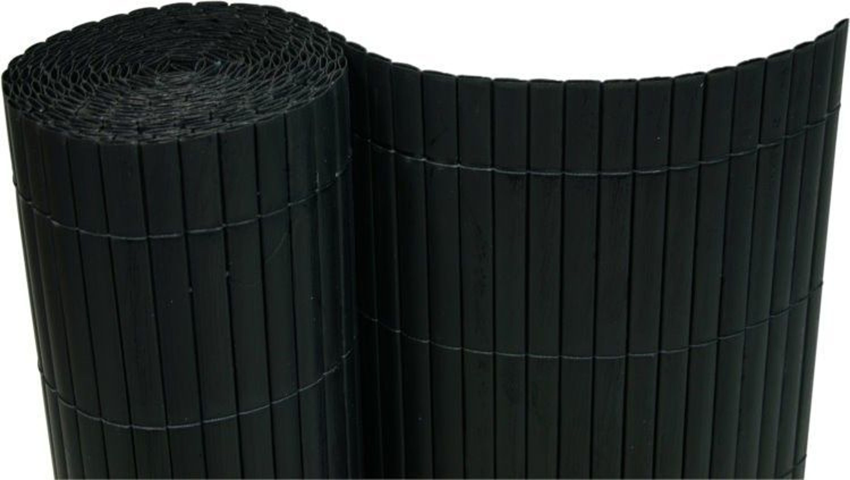 pvc sichtschutzmatte balkon sichtschutz 180x400cm windschutz schwarz kaufen bei. Black Bedroom Furniture Sets. Home Design Ideas