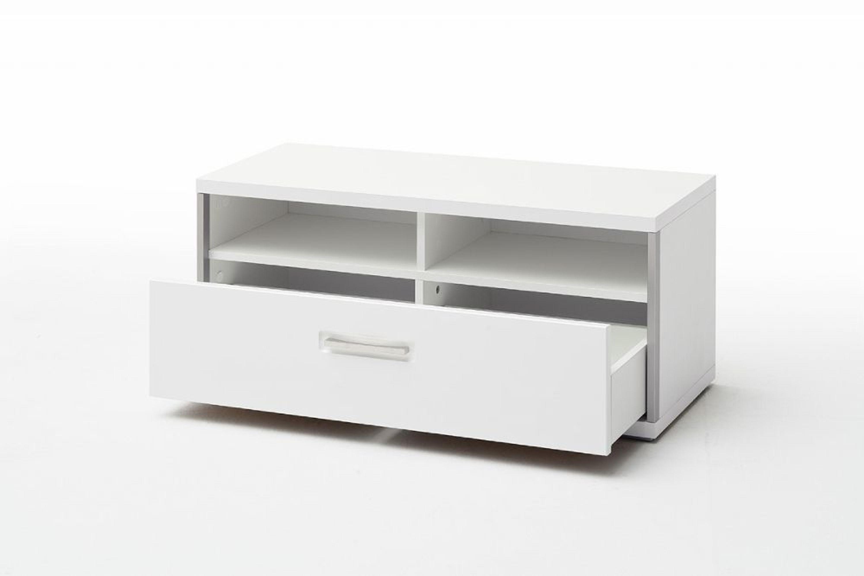 fillipe sitzbank in wei hochglanz mit edelstahl kaufen bei. Black Bedroom Furniture Sets. Home Design Ideas