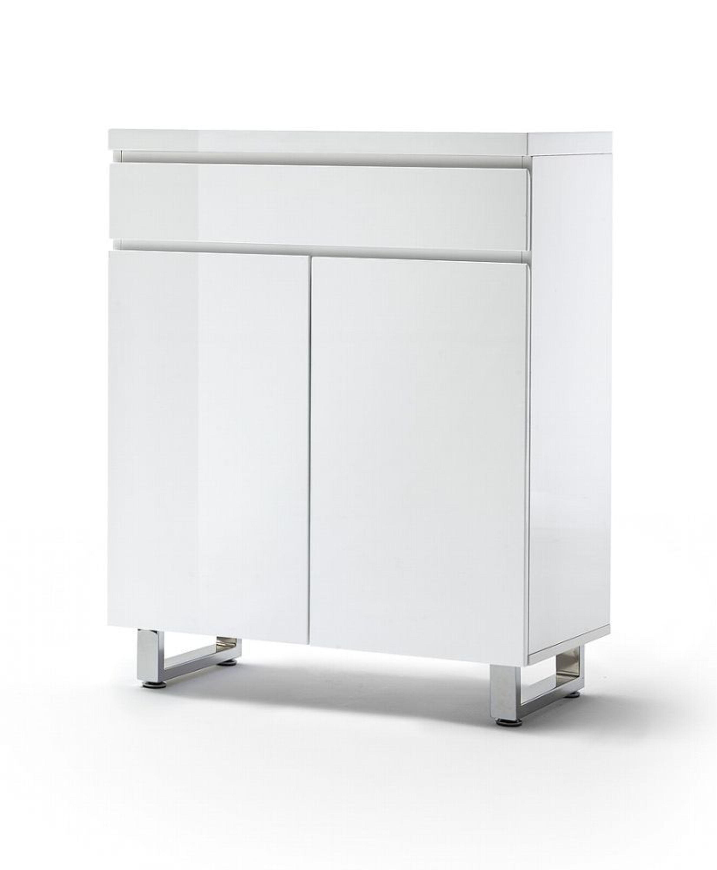 schuhschrank telma 2 t rig in wei hochglanz mdf kaufen. Black Bedroom Furniture Sets. Home Design Ideas