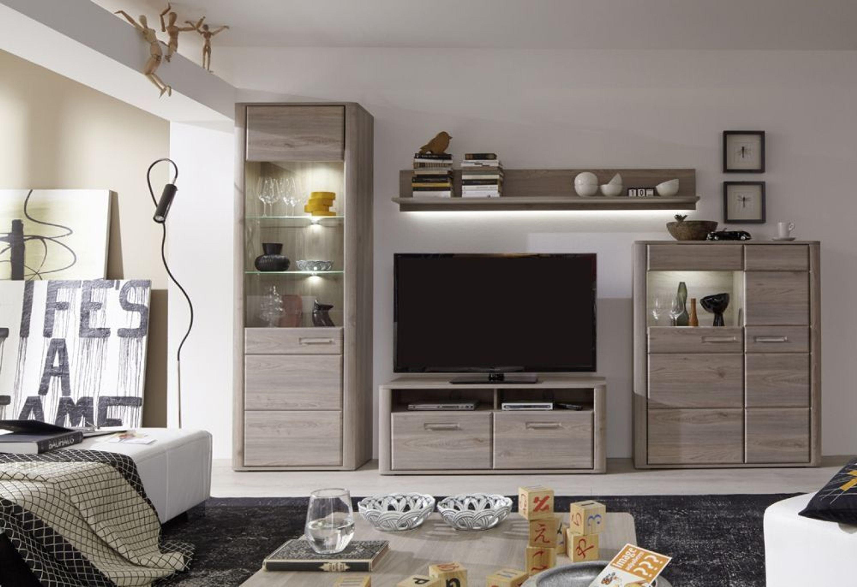 wohnwand caja 4 teilig in eiche nelson kaufen bei. Black Bedroom Furniture Sets. Home Design Ideas