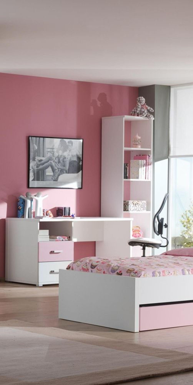 schreibtisch set lovisa 2 teilig in wei rosa kaufen bei. Black Bedroom Furniture Sets. Home Design Ideas