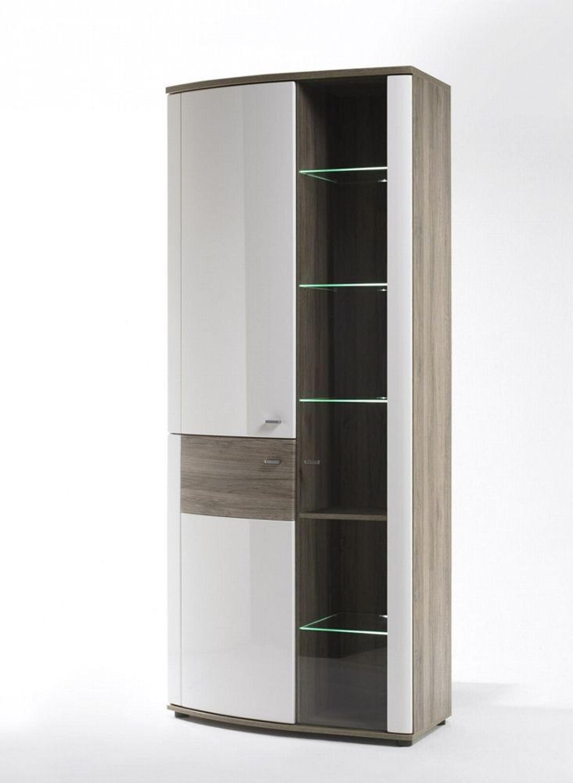 vitrine malee 2 t rig wei mit sonoma eiche nachbildung kaufen bei. Black Bedroom Furniture Sets. Home Design Ideas