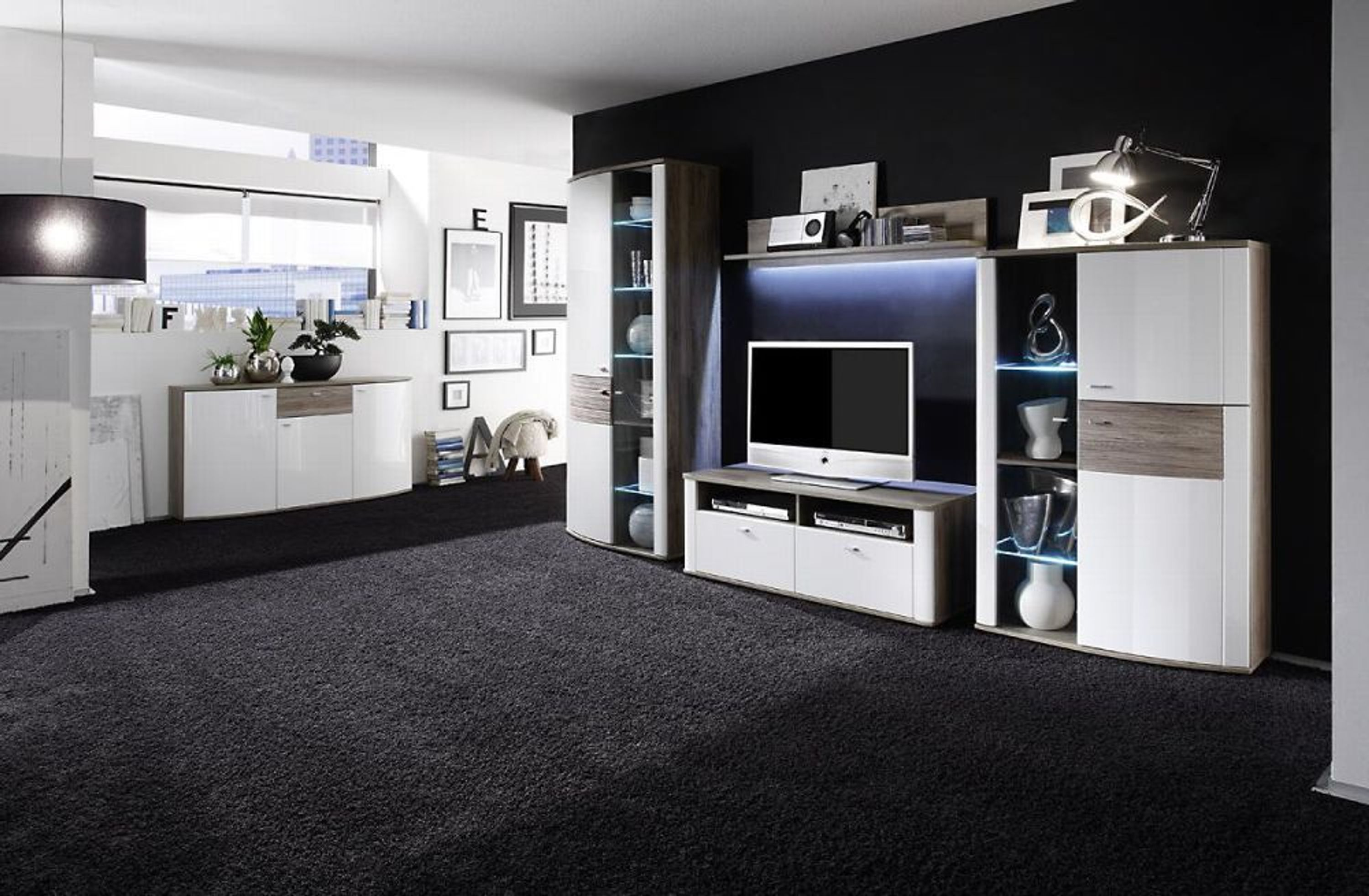 wandboard malee 125 cm sonoma eiche kaufen bei. Black Bedroom Furniture Sets. Home Design Ideas