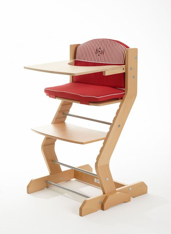 baby hochstuhl tissi mit tischplatte buche massiv rot 80 x. Black Bedroom Furniture Sets. Home Design Ideas