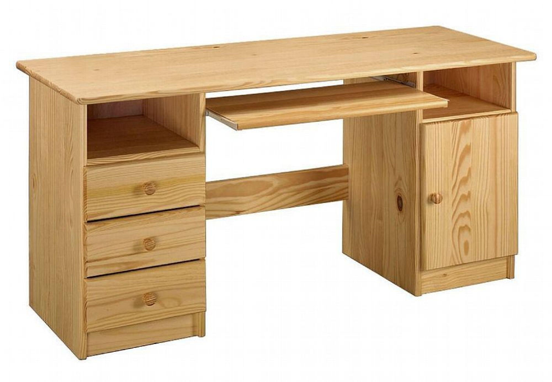 schreibtisch tom mit 3 schubladen kaufen bei. Black Bedroom Furniture Sets. Home Design Ideas