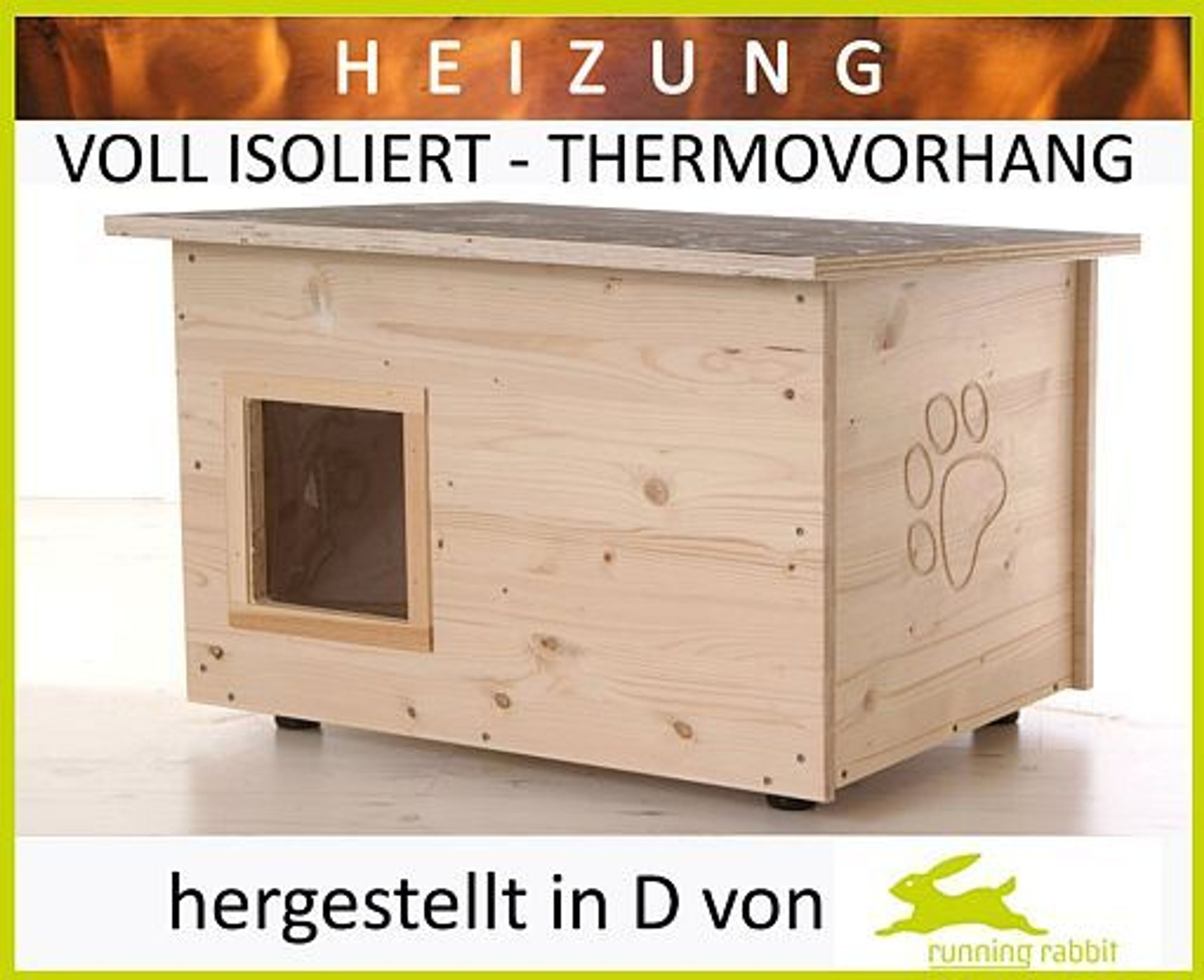katzenhaus mit heizung voll w rmeged mmt winterfest thermovorhang katzenh tte kaufen bei. Black Bedroom Furniture Sets. Home Design Ideas