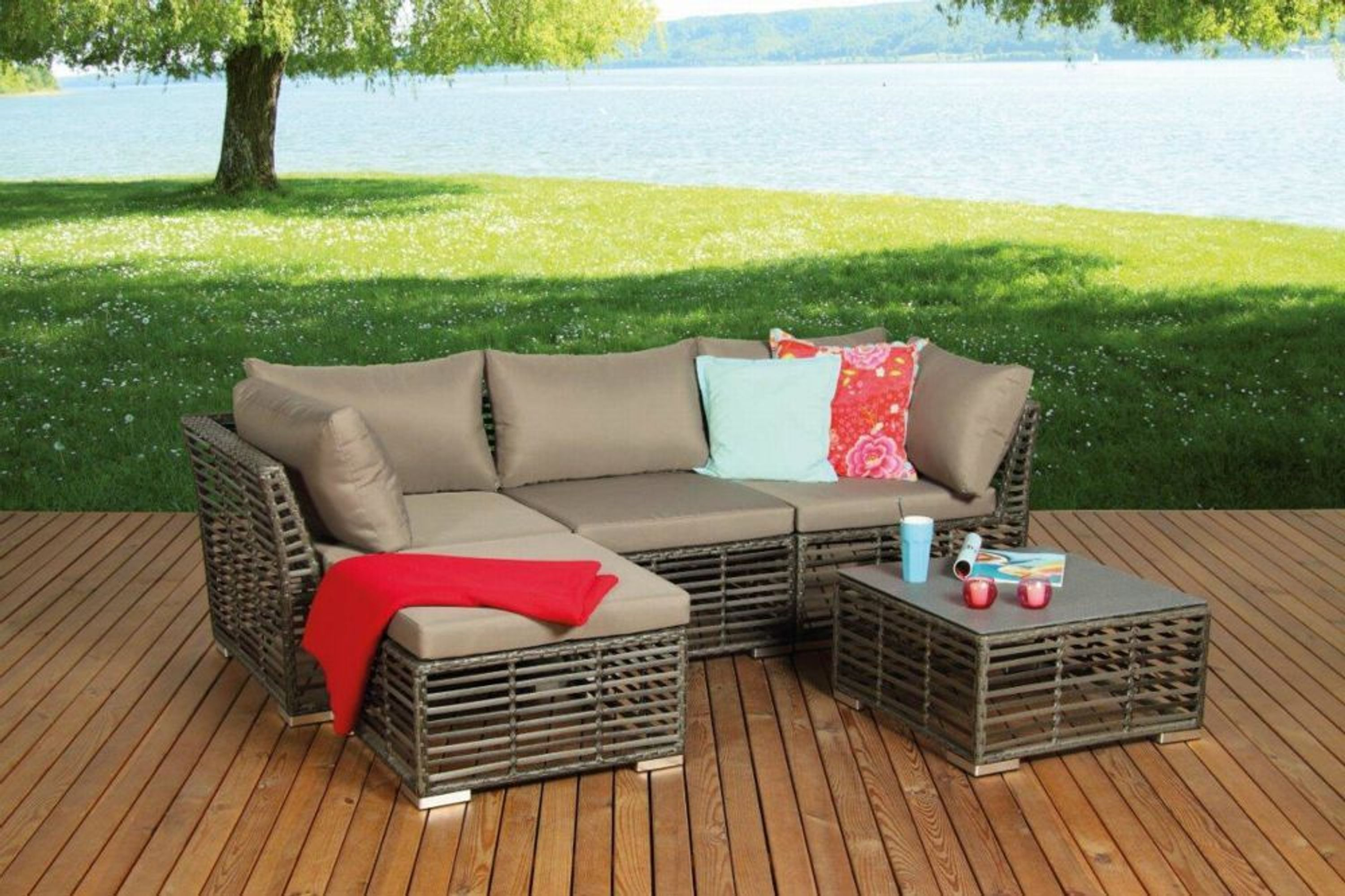 582654 wohnset gartenset 5tlg korfu ii garten lounge set ecksofa und tisch kaufen bei. Black Bedroom Furniture Sets. Home Design Ideas