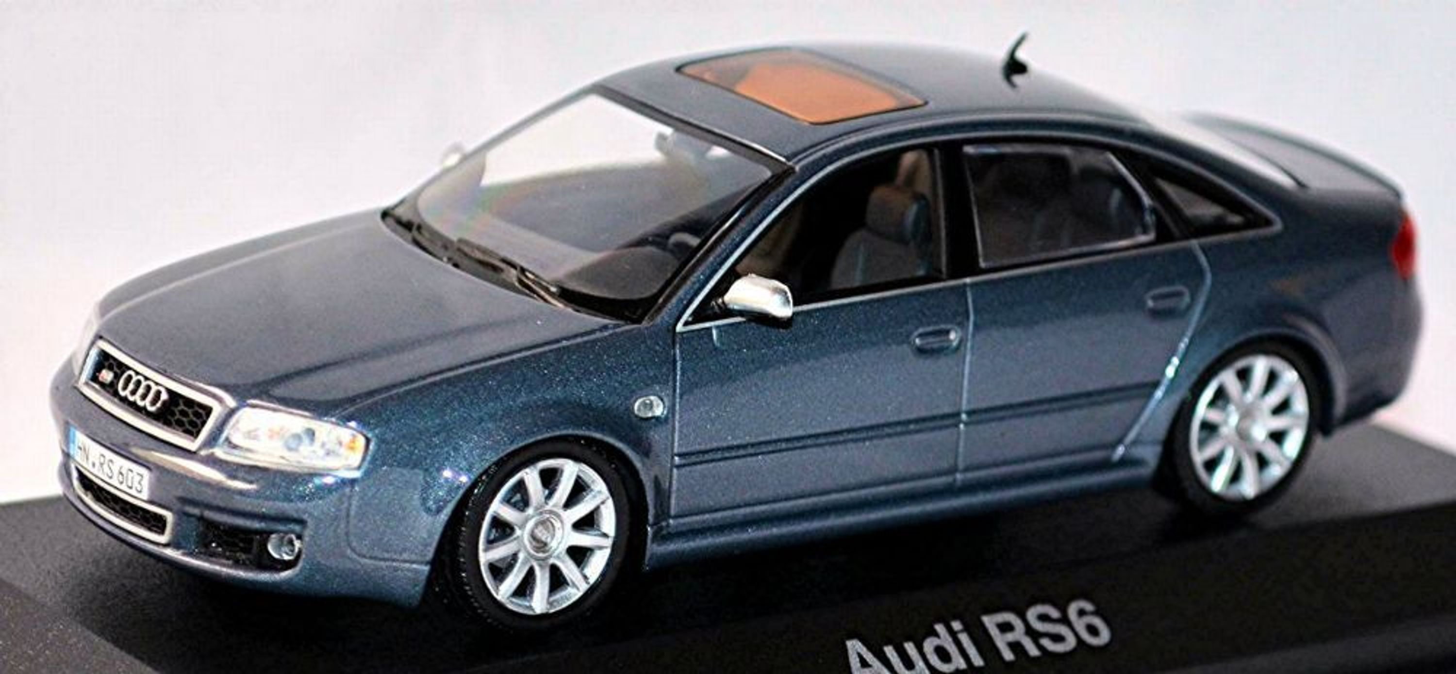 audi rs6 c5 limousine 2002 04 gray gray metallic 1 43 ebay. Black Bedroom Furniture Sets. Home Design Ideas