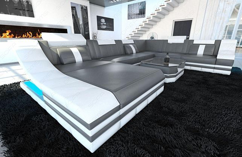 Luxus wohnlandschaft turino xxl led beleuchtung design for Luxus wohnlandschaft