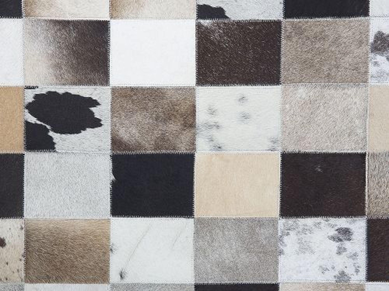 teppich braun beige 160x230 cm lederteppich kuhfell rize kaufen bei. Black Bedroom Furniture Sets. Home Design Ideas