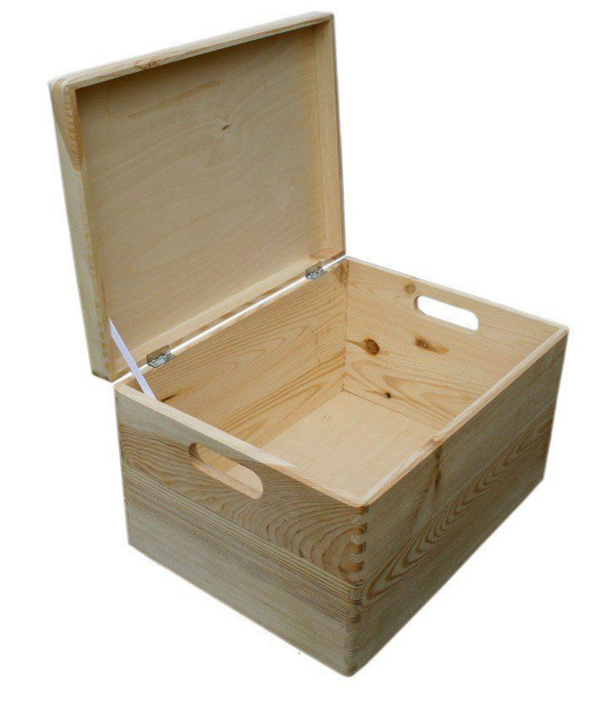 allzweckkiste aufbewahrung holz box holzbox holzkiste kasten kiste mit deckel kaufen bei. Black Bedroom Furniture Sets. Home Design Ideas