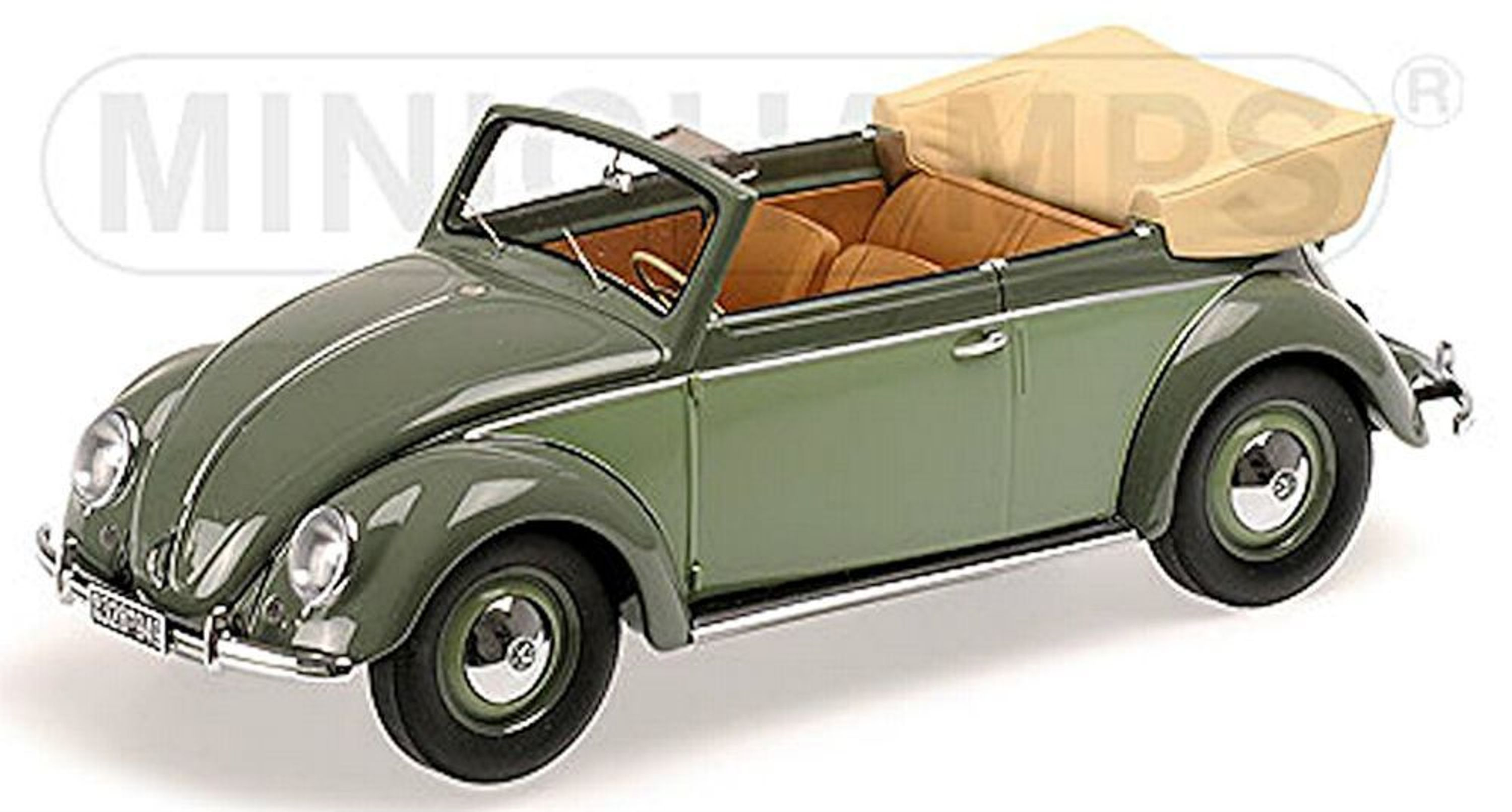 vw volkswagen coccinelle cabriolet beetle convertible 1949 vert 1 18 minichamps ebay. Black Bedroom Furniture Sets. Home Design Ideas