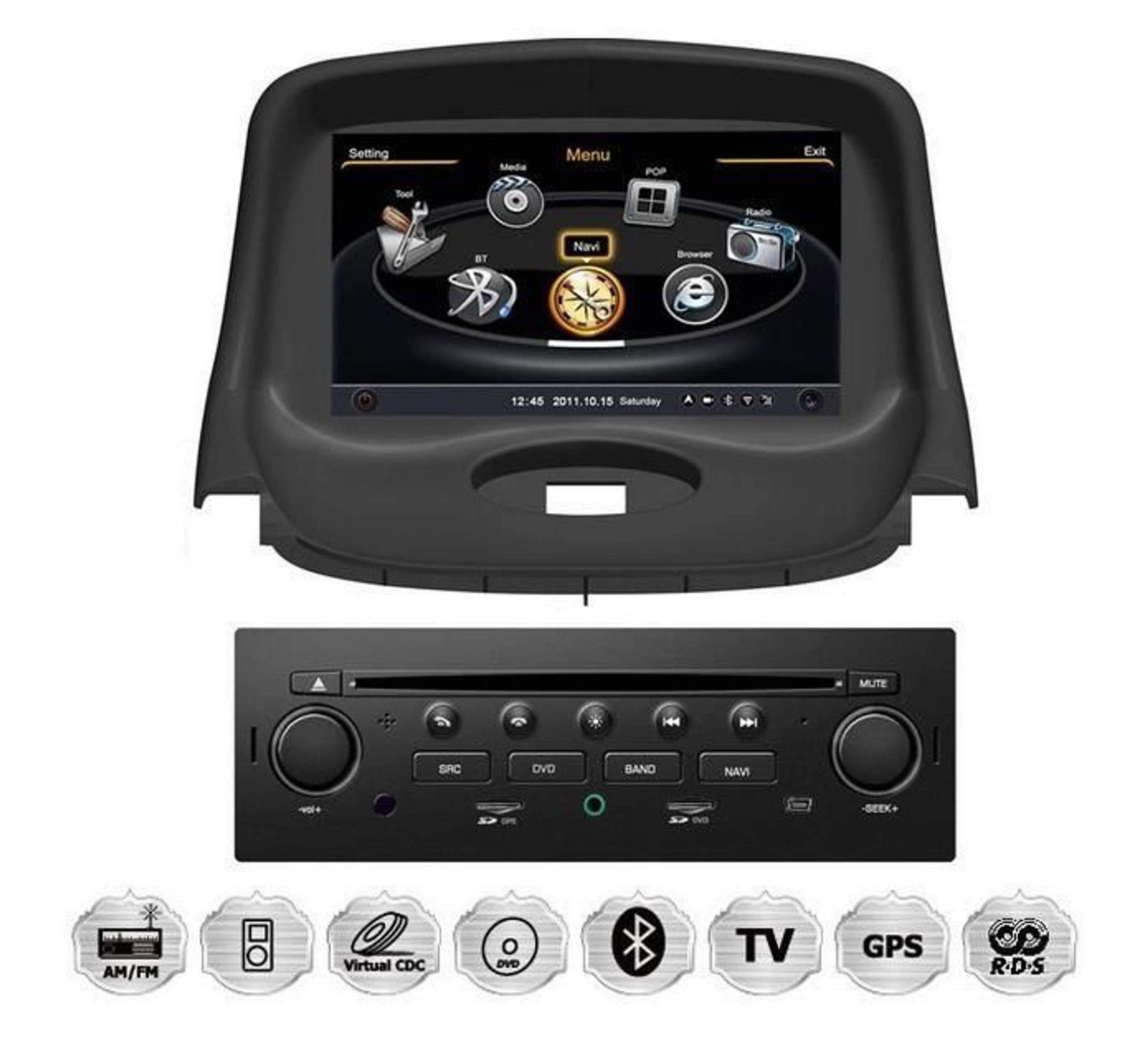 peugeot 206 oem autoradio gps navigationssystem kaufen bei. Black Bedroom Furniture Sets. Home Design Ideas