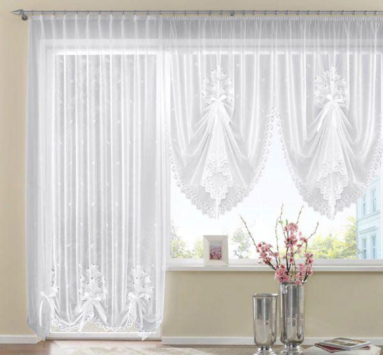 store weiss gardine vorhang h 130cm breite 300cm store schwalbenschwanz kaufen bei. Black Bedroom Furniture Sets. Home Design Ideas