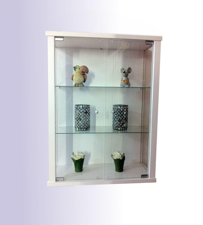h ngevitrine glasvitrine sammelvitrine sammlervitrine h ngeschrank vitrine weiss glas kaufen bei. Black Bedroom Furniture Sets. Home Design Ideas