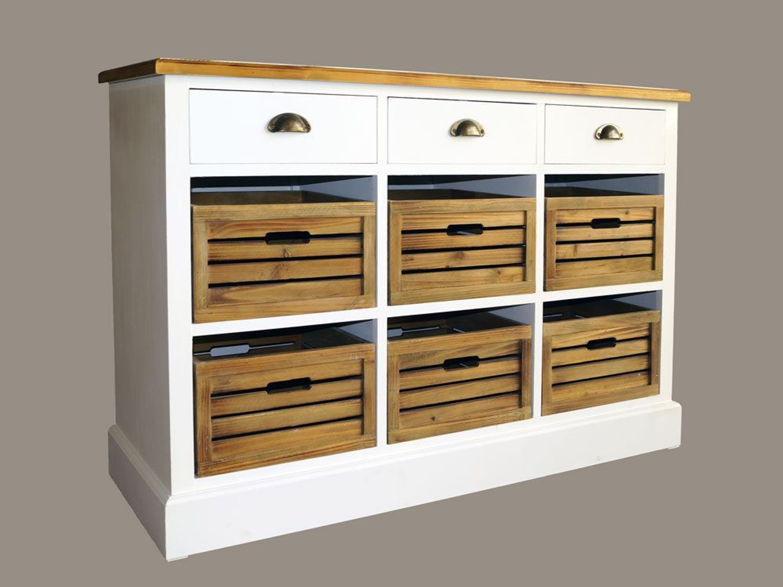 kommode touraine 9 schubladen holz landhaus stil vintage look schrank creme neu kaufen bei. Black Bedroom Furniture Sets. Home Design Ideas