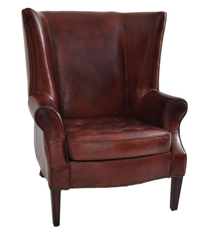 echtleder vintage ohrensessel designsessel manea antik neu kaufen bei. Black Bedroom Furniture Sets. Home Design Ideas