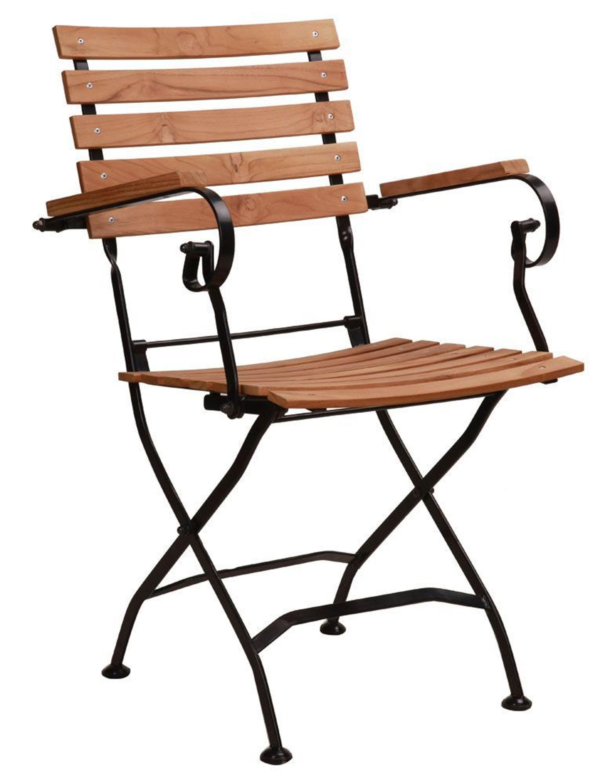 gartenstuhl armlehne siesta teakholz kaufen bei. Black Bedroom Furniture Sets. Home Design Ideas