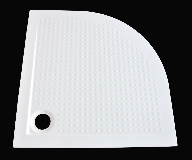 extra flache duschwanne acryl viertelkreis antirutsch 80x80x3 5cm ablaufgarnitur kaufen bei. Black Bedroom Furniture Sets. Home Design Ideas