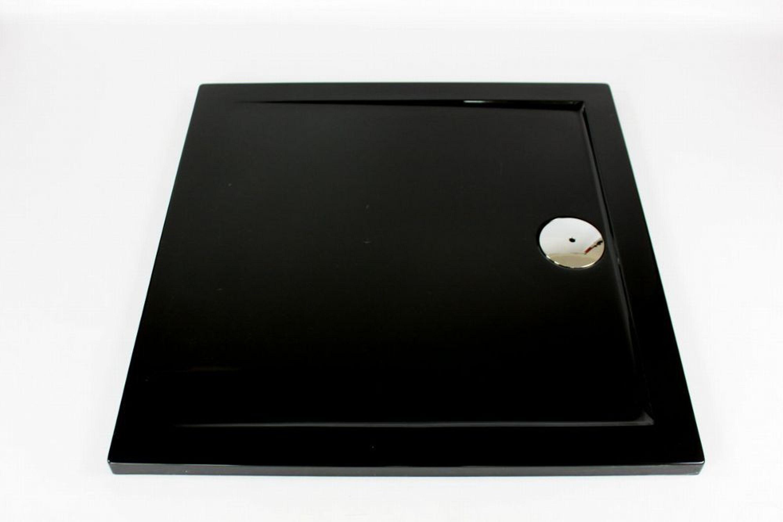 extra flache duschwanne duschtasse aus acryl schwarz slip 90x90x3 5cm ablaufgarnitur kaufen. Black Bedroom Furniture Sets. Home Design Ideas