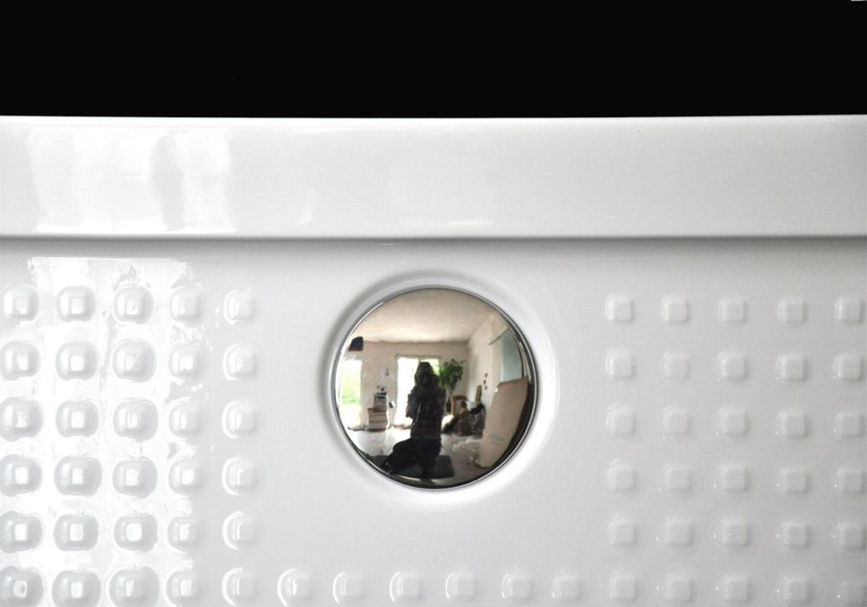 extra flache duschwanne duschtasse aus acryl antislip 80x80x3 5cm ablaufgarnitur kaufen bei. Black Bedroom Furniture Sets. Home Design Ideas