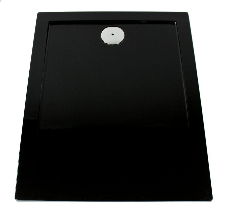 extra flache duschwanne duschtasse acryl schwarz slip 120x80 x3 5cm ablaufgarnitur kaufen bei. Black Bedroom Furniture Sets. Home Design Ideas