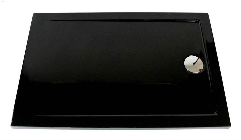 extra flache duschwanne duschtasse acryl schwarz slip 100x80 x3 5cm ablaufgarnitur kaufen bei. Black Bedroom Furniture Sets. Home Design Ideas