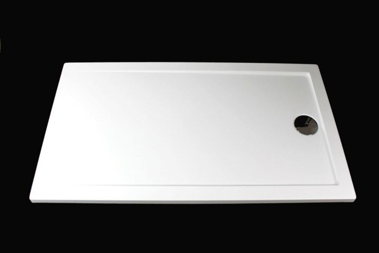 extra flache duschwanne duschtasse acryl wei slip 120x80 x3 5cm ablaufgarnitur kaufen bei. Black Bedroom Furniture Sets. Home Design Ideas
