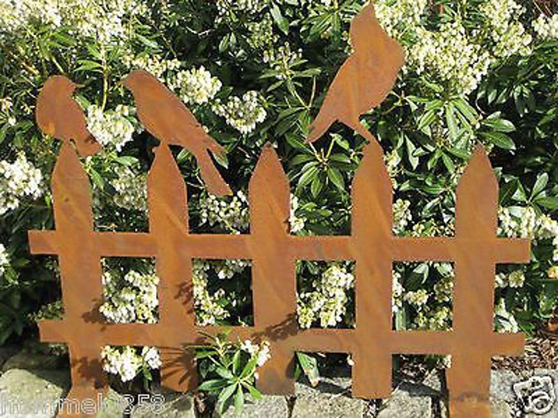 Garten deko zaun: gartendeko/deko/gartenstecker/stecker/rost ...